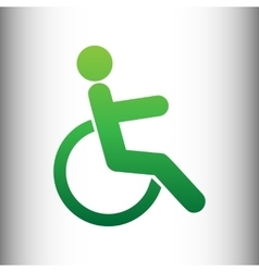 Disabled sign Green gradient icon vector