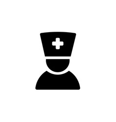 doctor icon black on white vector image