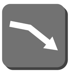 Fail Trend Rounded Square Icon vector image