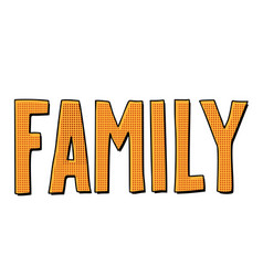 family text inscription vector image