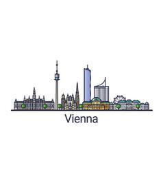 flat line vienna banner vector image