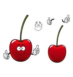 Fresh sweet cherry fruit cartoon character vector