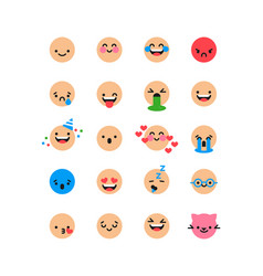 fun smiley face cartoon icon isolated background vector image