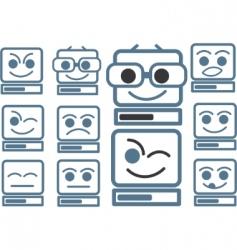 Funny computers vector