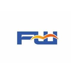 FW initial company logo vector