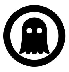 Ghost icon black color simple image vector