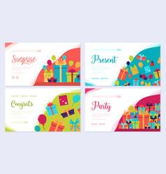 gift information brochure card set box vector image