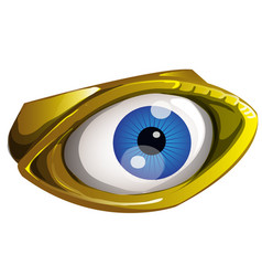 golden all seeing eye made of gold isolated on a vector image