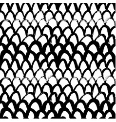 Grunge fish scale hand drawn seamless pattern vector