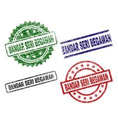 Grunge textured bandar seri begawan stamp seals vector