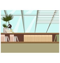 Home bookshelf vector