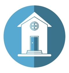 House home property round window shadow vector