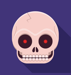 Human skull icon vector