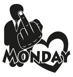 I hate monday vector