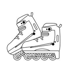 ice skates equipment vector image