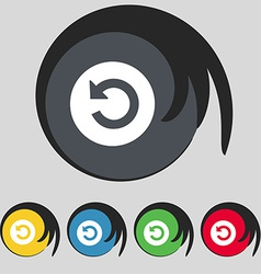 Icon sign Symbol on five colored buttons vector