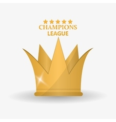 Isolated gold crown design vector