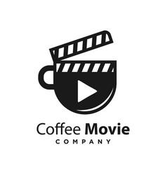logo design coffee movie template vector image