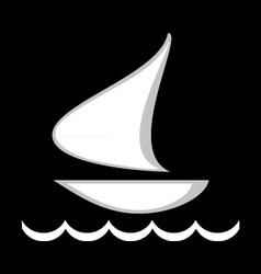 logo floating ship vector image
