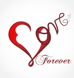 Love heart forever icon vector