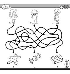 maze puzzle coloring page vector image