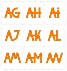 Modern minimalis initial logo 2 vector