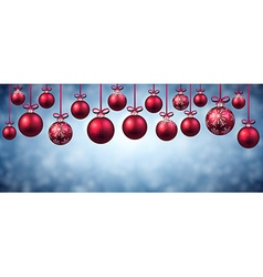 New Year banner with Christmas balls vector