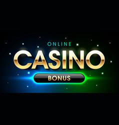 online casino welcome bonus banner first deposit vector image