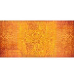 Orange abstract mosaic background vector