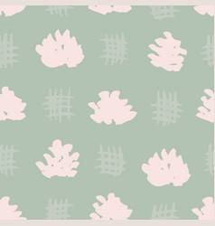 Pastel flower heads seamless pattern vector