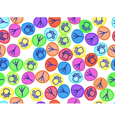 pattern colorful animal tracks vector image
