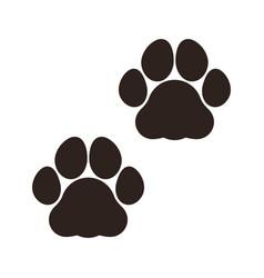 paw print icon vector image