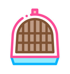 pet cage icon outline vector image