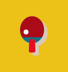 Ping pong table tennis icon in sticker style vector