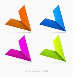 Pointers graphic vector