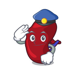 Police spleen character cartoon style vector