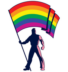 Pride flag bearer vector