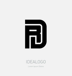 R and d - initials or logo rd - monogram or vector