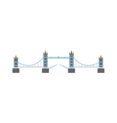 River bridge vector image