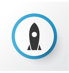 Rocket icon symbol premium quality isolated vector