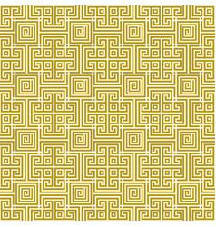 seamless traditional geometric greek gold pattern vector image