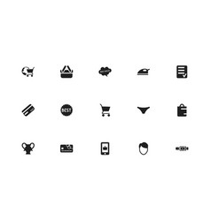 set of 15 editable trade icons includes symbols vector image