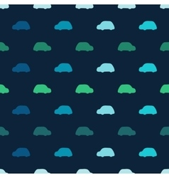 Silhouettes colored cars clouds seamless vector image
