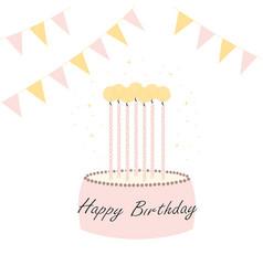 simple birthday card vector image