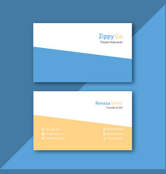 simple fresh busines card image vector image