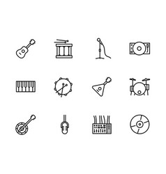 simple set music instrument and equipment vector image