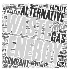 Some Suppliers of Alternative Energy text vector