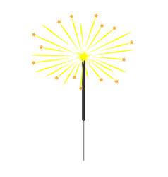 sparkler colorful sign 3312 vector image