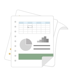 spreadsheet file document vector image