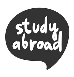 Study abroad sticker for social media content vector